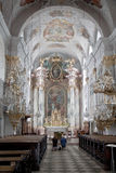 Praying in the cathedral of Klagenfurt, Austria Royalty Free Stock Photography