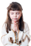 Praying child Royalty Free Stock Images