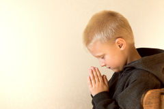 Praying child Royalty Free Stock Image