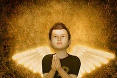 Praying child Stock Images