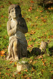 Praying child sculpture Royalty Free Stock Photography