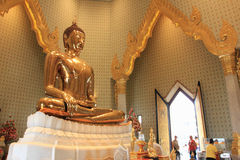 Chineese buddhist temple of Golden Buddha, Wat Traimit, Bangkok, Thailand Stock Images