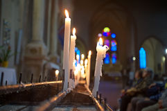 Praying in church Royalty Free Stock Photo