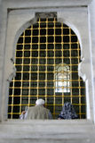 Praying couple. In Topkapi Palace Stock Image