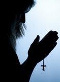 Praying da mulher Foto de Stock Royalty Free