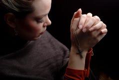 Praying da mulher Imagem de Stock
