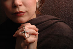 Praying da mulher Fotos de Stock Royalty Free