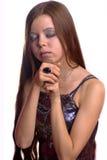 Praying do adolescente Imagens de Stock