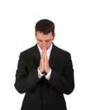 Praying do homem Imagens de Stock Royalty Free