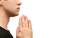 Praying do homem Fotografia de Stock Royalty Free
