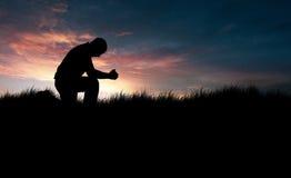 Praying do homem Fotografia de Stock Royalty Free