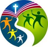 Praying education logo Royalty Free Stock Image