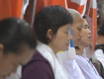 Praying em Bodhgaya Imagem de Stock Royalty Free