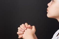 Praying fêmea novo bonito fotos de stock royalty free