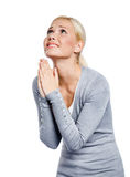 Praying female stock photography