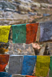 Praying flags Royalty Free Stock Images
