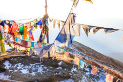 Praying flags floating in the wind Stock Photography