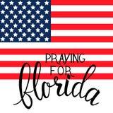 Praying for Florida text Royalty Free Stock Image
