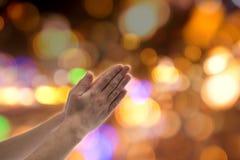 Praying gesture Stock Images