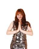 Praying girl. Royalty Free Stock Images