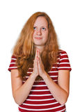 Praying girl Royalty Free Stock Image