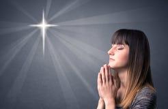 Praying girl concept Royalty Free Stock Image
