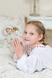 Praying girl Royalty Free Stock Photography