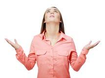 Praying girl Stock Images