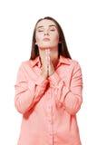 Praying girl Royalty Free Stock Image