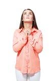 Praying girl Stock Photos