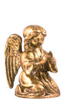 Praying golden angel. Royalty Free Stock Photo