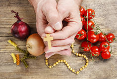 Praying for good harvests Royalty Free Stock Photography