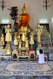Praying Grand Palace Bangkok Stock Photography