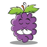 Praying grape character cartoon collection Royalty Free Stock Photo
