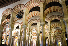 Praying Hall of the Mezquita Royalty Free Stock Photography