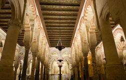 Praying Hall of the Mezquita-Cathedral Royalty Free Stock Photo