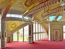 Praying hall in the mosque in the Chechen Republic Stock Photography