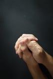 Praying hand Stock Photography