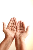 Praying hands. Of an old woman Royalty Free Stock Photos