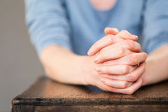Praying Hands - Closeup Royalty Free Stock Photo