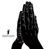 Praying hands, detailed vector illustration. Stock Photo