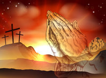 Praying Hands Easter Concept Royalty Free Stock Photography