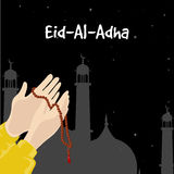 Praying hands for Eid-Al-Adha celebration. Royalty Free Stock Photo