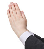 Praying hands - hand gesture Stock Images