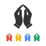 Praying hands icon,  illustration. Royalty Free Stock Photos