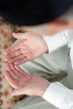 Praying hands. Selective focus Royalty Free Stock Image