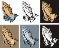 Praying Hands set. Praying Hands tattoo set. Durer royalty free stock photo