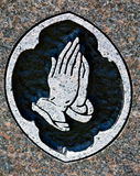 Praying Hands Stone Carving Stock Image