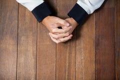 Praying hands of woman Stock Image