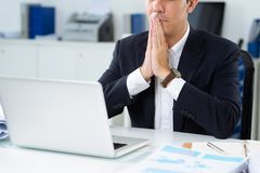 Praying in hope for success Royalty Free Stock Photography